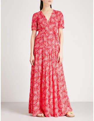 BA&SH Coming printed crepe maxi dress