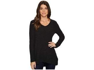 Mod-o-doc Poorboy Rib Sweater Double Layer Hem Long Sleeve Sweater Women's Sweater
