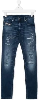 Diesel TEEN ripped skinny jeans