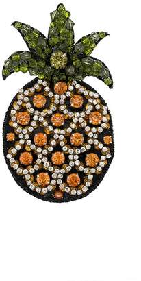 No.21 embellished pineapple brooch
