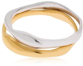 Bar Jewellery Ripple Set Of 2 Rings