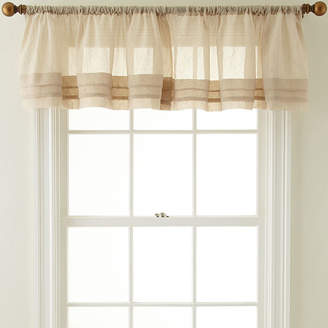 Royal Velvet Crushed Voile Rod-Pocket Tailored Pleated Valance