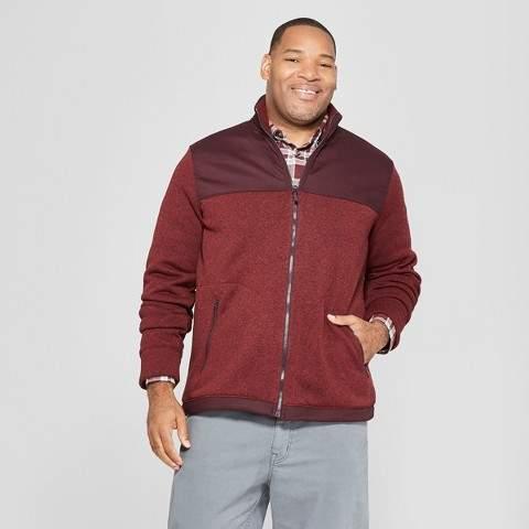 Goodfellow & Co Men's Big & Tall Long Sleeve Sweater Fleece Zip-Up