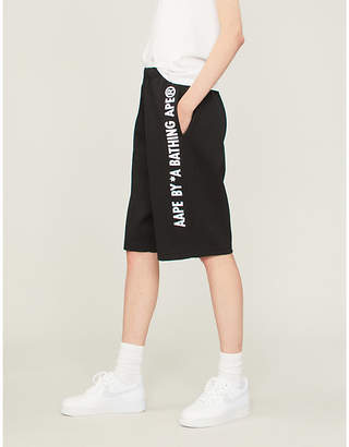 Aape Graphic-print stretch-jersey shorts