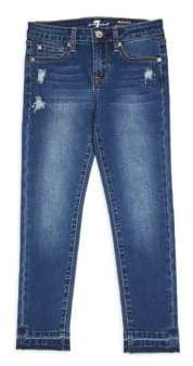 7 For All Mankind Little Girl's& Girl's Ankle Skinny Jeans