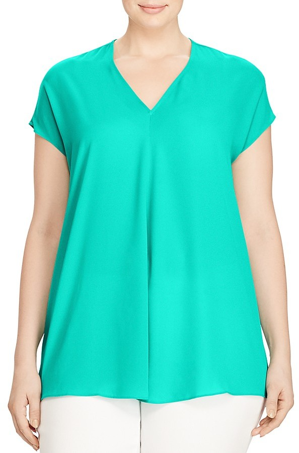 Lauren Ralph LaurenLauren Ralph Lauren Plus Pleat Front Top