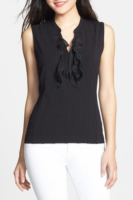 NIC+ZOE Ruffle Blouse $176 thestylecure.com