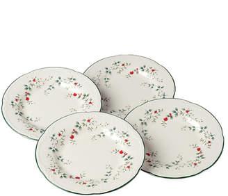 Pfaltzgraff Set of 4 Winterberry Dinner Plates