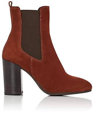Barneys New York WOMEN'S SUEDE CHELSEA BOOTS - BROWN SIZE 5