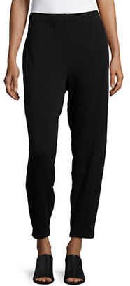 Eileen Fisher Elastic Waist Ankle Length Pants $138 thestylecure.com