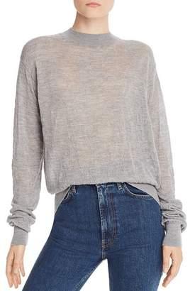 Helmut Lang Merino Wool Textured Crewneck Sweater