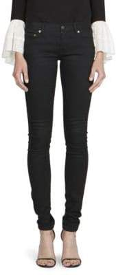 Saint Laurent Low-Rise Super Stretch Skinny Jeans