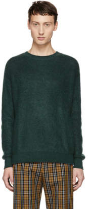John Elliott Green Brushed Crewneck Sweater