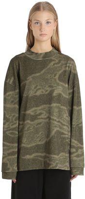 Moto Heavy Cotton Jersey Sweatshirt $338 thestylecure.com