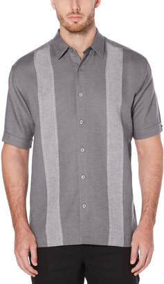 Cubavera Panel Linen Blend Shirt