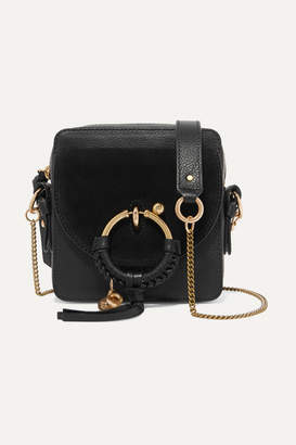 See by Chloe Square Textured-leather And Suede Shoulder Bag - Black