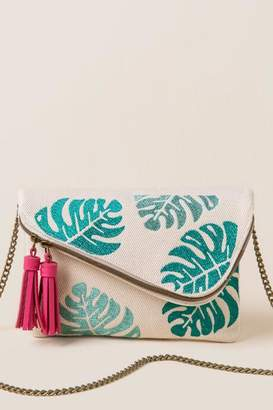 francesca's Ember Palm Clutch Crossbody - Natural