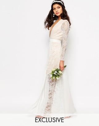 Fame and Partners Bridal Laced Heaven Maxi Dress With Split $316 thestylecure.com