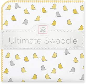 Swaddle Designs Ultimate Swaddle Blanket Premium Cotton Flannel Jewel Tone Little Chickies