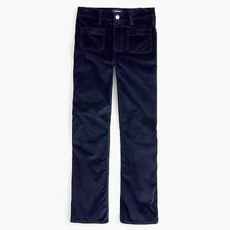 J.Crew Billie demi-boot crop jean in velvet