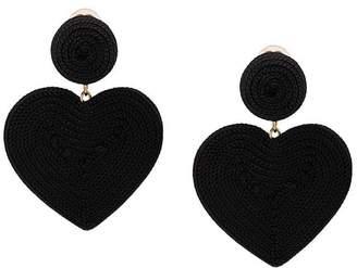 Rebecca De Ravenel Cora heart costume clip-on earrings