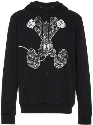 Marcelo Burlon County of Milan Mickey Mouse print cotton hoodie