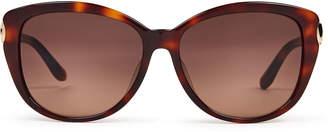 Salvatore Ferragamo SF797SA Tortoiseshell-Look Round Sunglasses