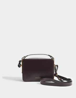 Sophie Hulme Mini Trunk Bag in Oxblood Calf Leather