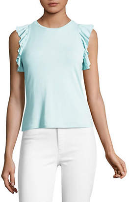 HIGHLINE COLLECTIVE Fitted Ruffled Tank Top