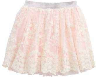 Truly Me Floral Lace Skirt
