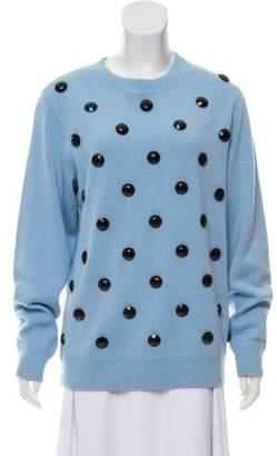 Marc Jacobs Embellished Crew Neck Sweatshirt w/ Tags blue Embellished Crew Neck Sweatshirt w/ Tags