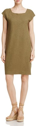 Eileen Fisher Short Sleeve Square Neck Dress $158 thestylecure.com