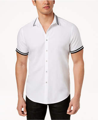 INC International Concepts I.N.C. Men's Short Sleeve Button Down Shirt, Created for Macy's