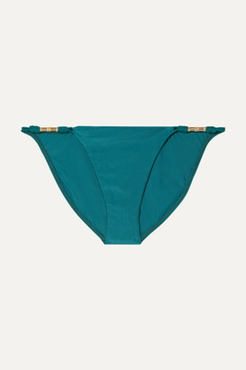 Vix Rope-trimmed Bikini Briefs - Teal