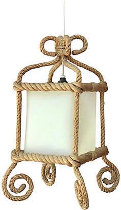 One Kings Lane Vintage Rope Lantern Audoux Minet - majolicadream