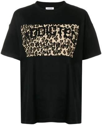 P.A.R.O.S.H. leopard print panel T-shirt