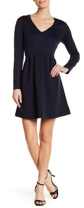 Joe Fresh V-Neck Long Sleeve Pleated Dress