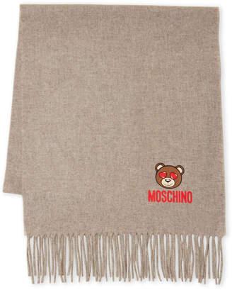 Moschino Bear Embroidery Logo Scarf
