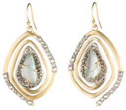 Alexis Bittar Crystal Encrusted Spiral Drop Earrings
