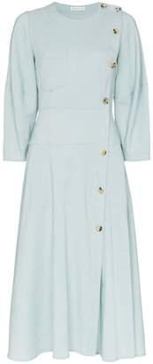REJINA PYO button down linen midi dress