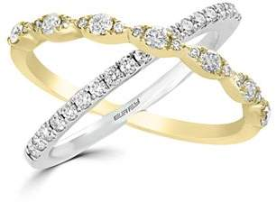 Bloomingdale's Diamond Crossover Ring in 14K White & Yellow Gold, 0.60 ct. t.w. - 100% Exclusive