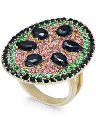 INC International Concepts I.N.C. Gold-Tone Stone & Crystal Pavé Watermelon Statement Ring, Created for Macy's