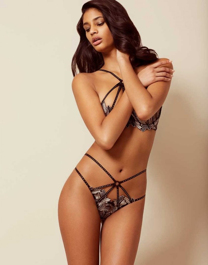Agent Provocateur Christalina Thong Silver