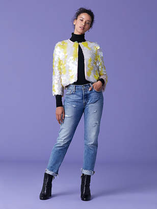Diane von Furstenberg Jean Circle Paillette Silk Jacket