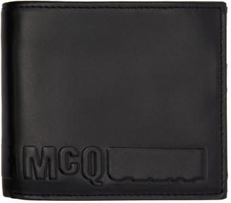 McQ Alexander McQueen Black Fold Logo Wallet $140 thestylecure.com