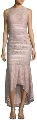JS Collections Floral-Lace High-Low Dress $279 thestylecure.com