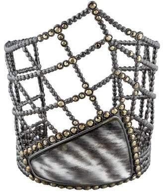 Alexis Bittar Lucite & Crystal Web Cuff