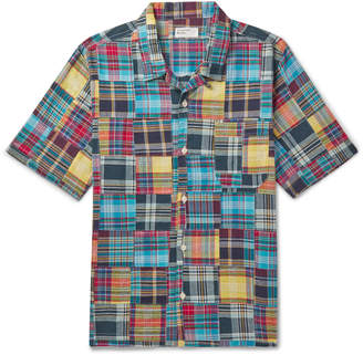 Universal Works Patchwork Checked Cotton Shirt - Men - Multi