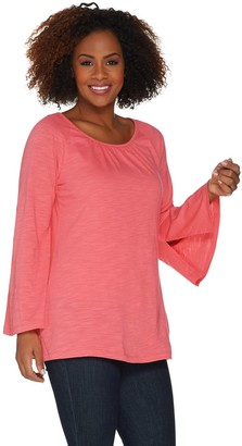 Belle By Kim Gravel Belle by Kim Gravel Slub Knit Belle Sleeve Tunic