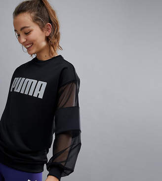 Puma Exclusive To Asos Mesh Sleeve Sweatshirt